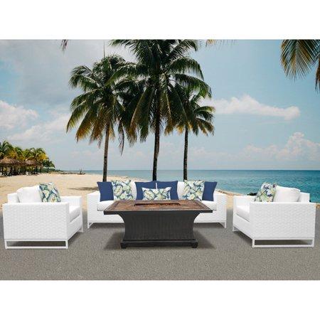Tk Classics Miami Wicker 6 Piece Patio Conversation Set