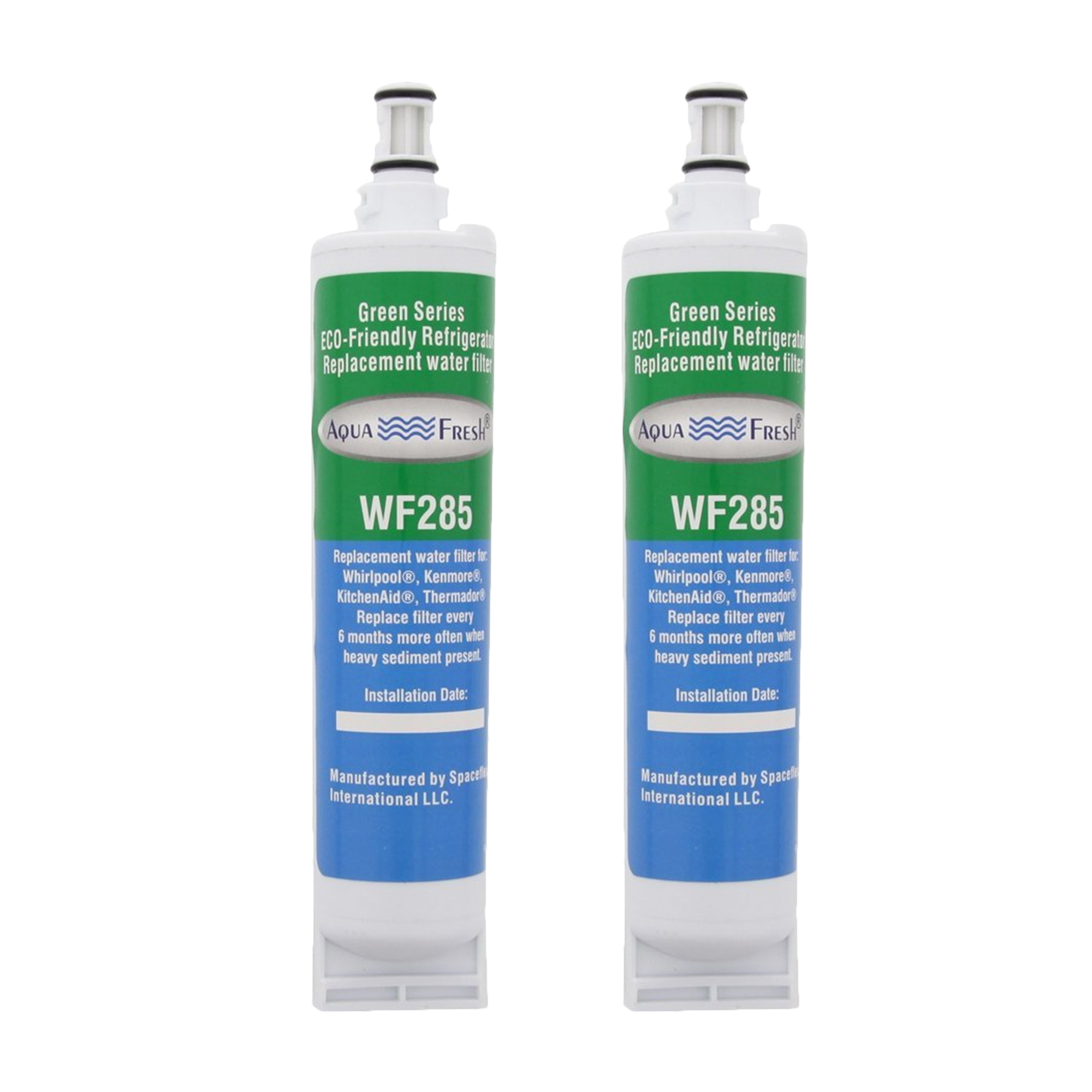 Replacement Water Filter For Whirlpool 4396510T Refrigerator Water Filter by Aqua Fresh (2 Pack)