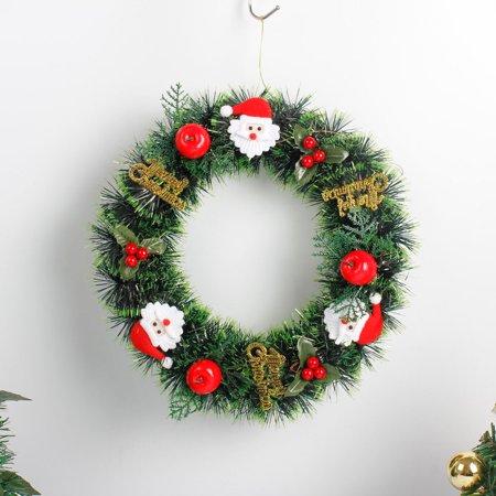 Hot Sale Merry Christmas 35cm Christmas Wreath Garland Window Door Hanging Ornament Diy Xmas Home Festival Decoration