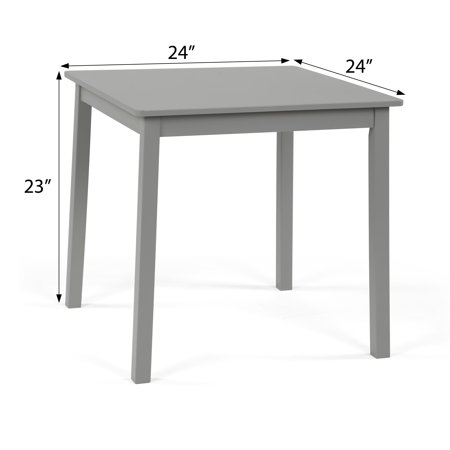 3pc Kids' Table and Chair Set Gray - Humble Crew
