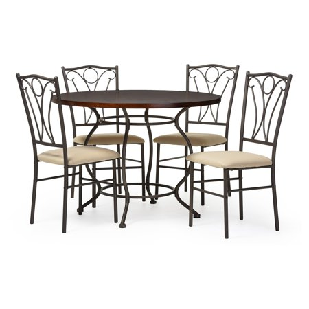 baxton studio greggory 5 piece dining table set