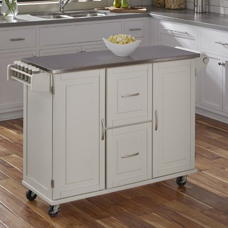 Red Barrel Studio Lomas Kitchen Island With Stainless Steel Top