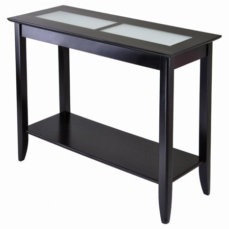 Syrah Console Table  Espresso With Frosted Glass