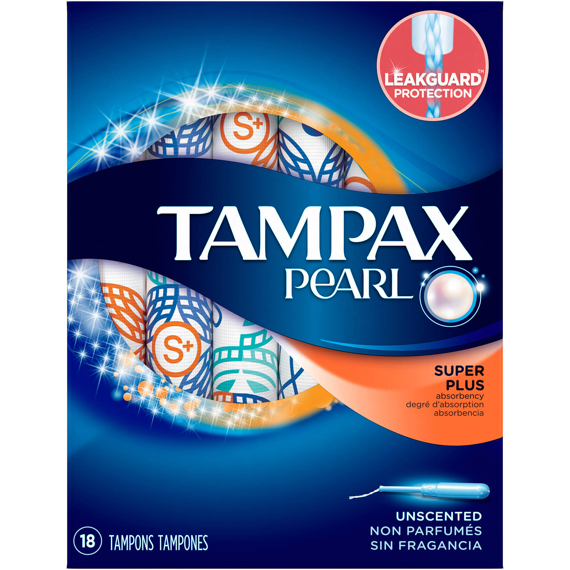 Tampax Pearl Plastic Super Plus Absorbency Tampons, (Choose your Count)