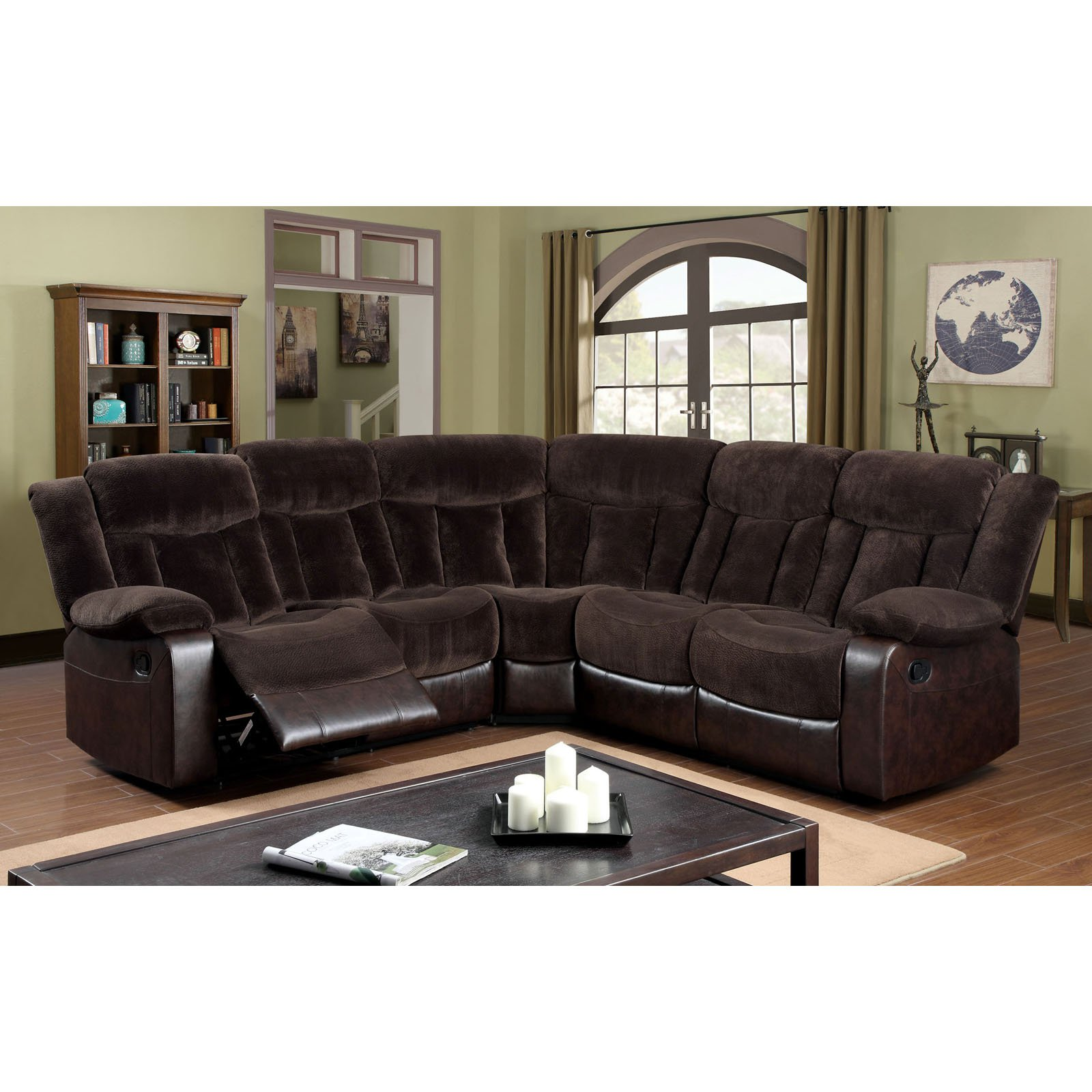 Furniture of America Blanford Corner Sectional Sofa by Enitial Lab