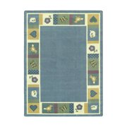 Joy Carpets 1537-02 Baby Blues Just for Kids Rug 5-ft 4-in 7-ft 8-in