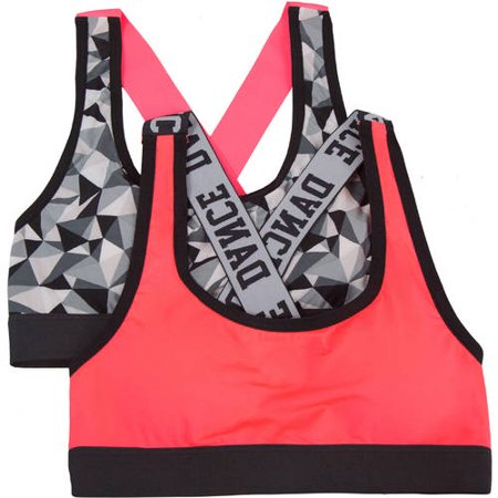 Fruit Of The Loom Girls Banded Sports Bra Style 2 Pack