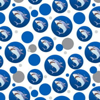 Great White Shark Cartoon in Ocean Premium Gift Wrap Wrapping Paper Roll