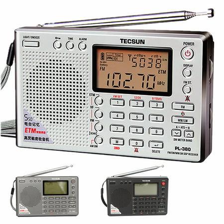 TECSUN PL-380 DSP PLL FM MW SW LW Digital Stereo Radio World Band