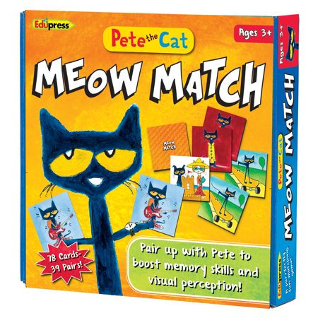 PETE THE CAT MEOW MATCH GAME (Best Match Game Questions)