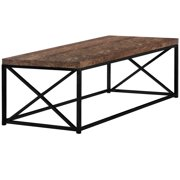 COFFEE TABLE - BROWN RECLAIMED WOOD-LOOK / BLACK METAL