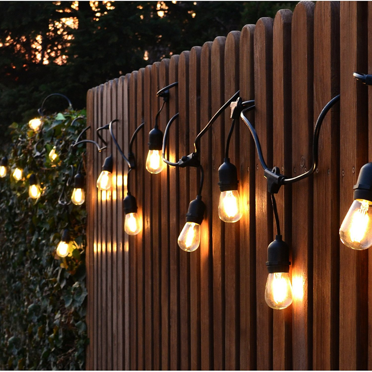 Ktaxon String Lights,Outdoor String Light With Sockets, S14 Bulbs Included  Vintage Edison String