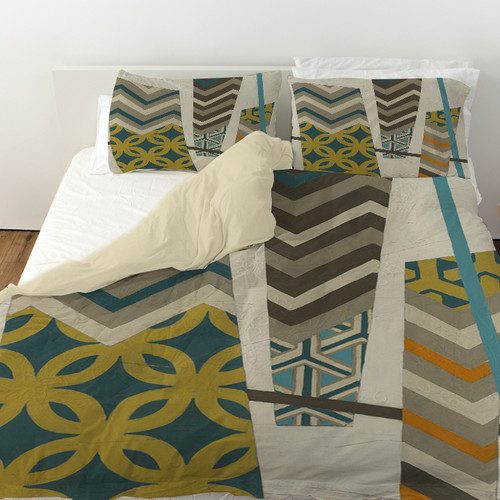 Manual Woodworkers & Weavers Abstract Scrapbook 1 Duvet Cover