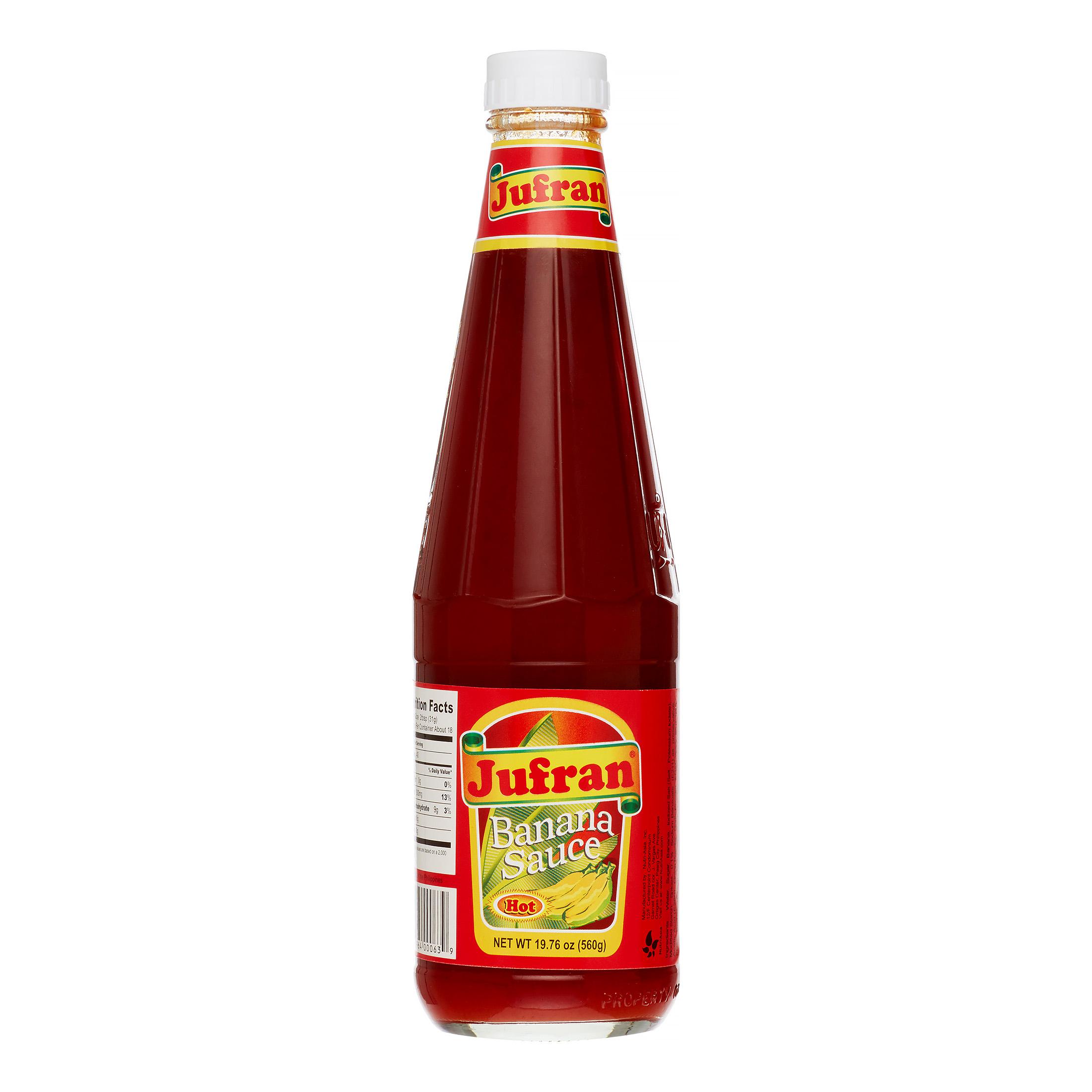 Jufran Hot Red Box, Banana Sauce, 20 Oz
