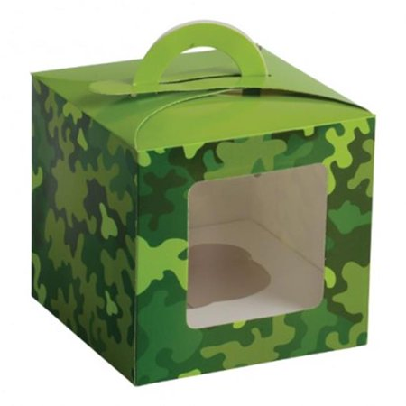 US Toy TU241X13 Camo Party Cupcake Boxes - 12 Per Pack - Pack of 13