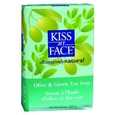 (2 Pack) Kiss My Face Soap Olive & Green Tea, 8.0 OZ