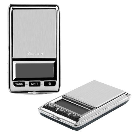 Insten Small Digital Scale .01 gram to 500g Digital Jewelry Scale for Jewelry Gold Silver Coin Mail Weighting High Precision (Stainless Steel Salver)(Support: g oz ozt dwt ct gn)