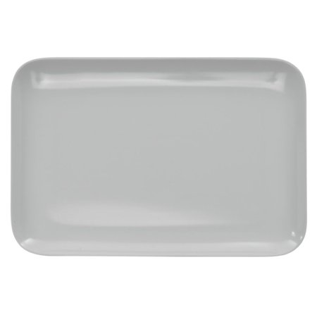 Serving Tray Display Tray Low Profile Black Melamine Plastic- 13 1/4 L x 9 1/8 W x 1