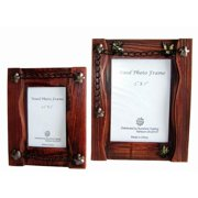 sunshine trading st-02-5 handmade wood photo frame - 3.5 x 5 inch