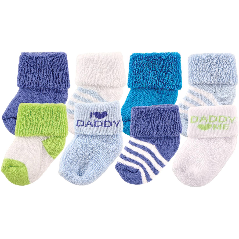 "Luvable Friends Newborn Baby Boys ""I Love"" Socks 8-Pack"