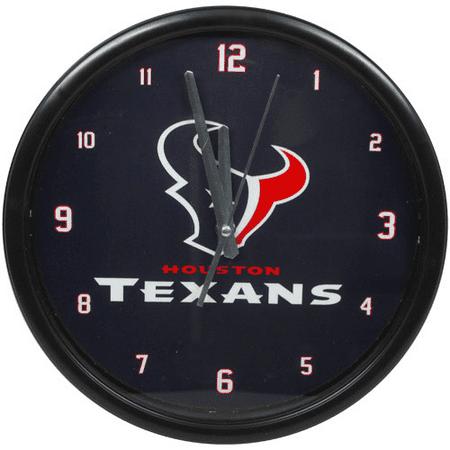 Houston Texans Black Rim Basic Clock - No Size