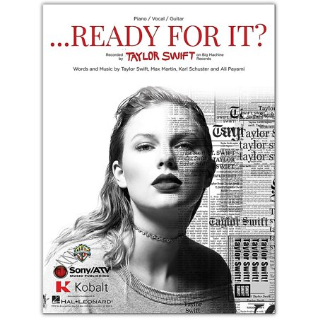 Hal Leonard Taylor Swift ...Ready For It?  Piano/Vocal/Guitar Sheet ()