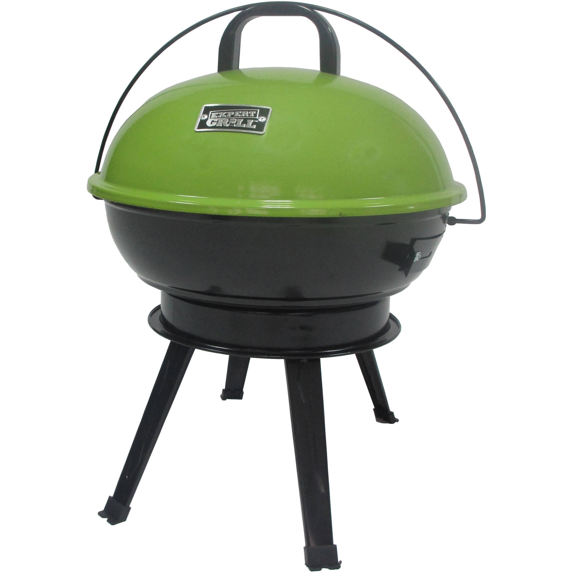 "Expert Grill 14.5"" Portable Charcoal Grill, Spicy Lime"
