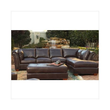 America\'s Best Leather Browley Leather Sectional Sofa ...