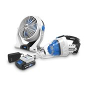 HART 20-Volt 2-Speed Fan and Automotive Hand Vacuum Kit
