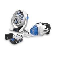 HART 20-Volt 2-Speed Fan and Automotive Hand Vacuum Kit