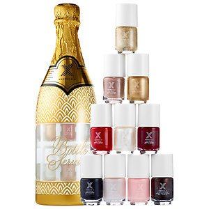 Formula X Bottle Service Set a Limited-edition 10-piece Mini Nail Polish Set with Bestselling Bold and Neutral Shades Featured in Premium Champagne Bottle Packaging. ()