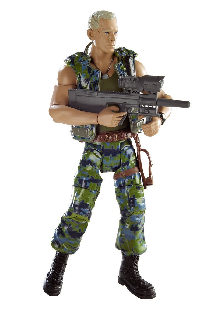 Avatar Movie Masters Colonel Miles Quatrich Figure By Mattel by