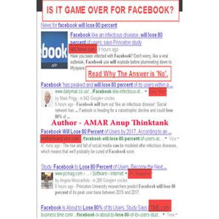 - Is It Game Over For Facebook? Read Why The Answer Is 'No'. - eBook