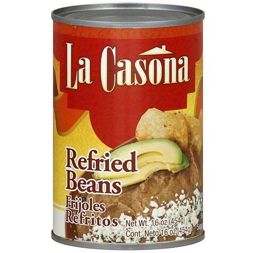 La Casona Refried Beans, 16 oz (Pack of 12)