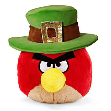 Angry Birds Red Bird Plush [St. Patrick's - Angry Birds Toys Walmart