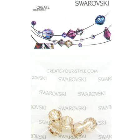 Swarovski 5000 Round Faceted Beads 6mm Crystal Golden Shadow 5 pcs