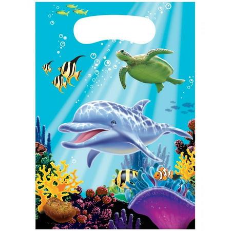 Creative Converting Ocean Party Favor Bags, 8 ct