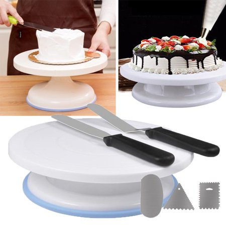 Ejoyous Cake Decorating Turntable Rotating Cake Stand Baking Supplies with Decorating - Rotating Cake Stand