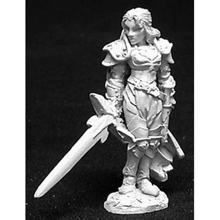 Paladin Miniatures (Reaper Miniatures Alaine, Female Paladin #02725 Dark Heaven Unpainted)
