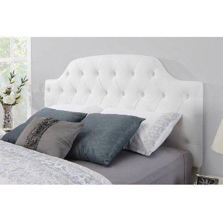 Dorel Living Lyric Button Tufted Faux Leather Headboard, Multiple Colors ()