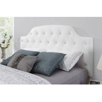 Dorel Living Lyric Button Tufted Faux Leather Headboard, Multiple Colors
