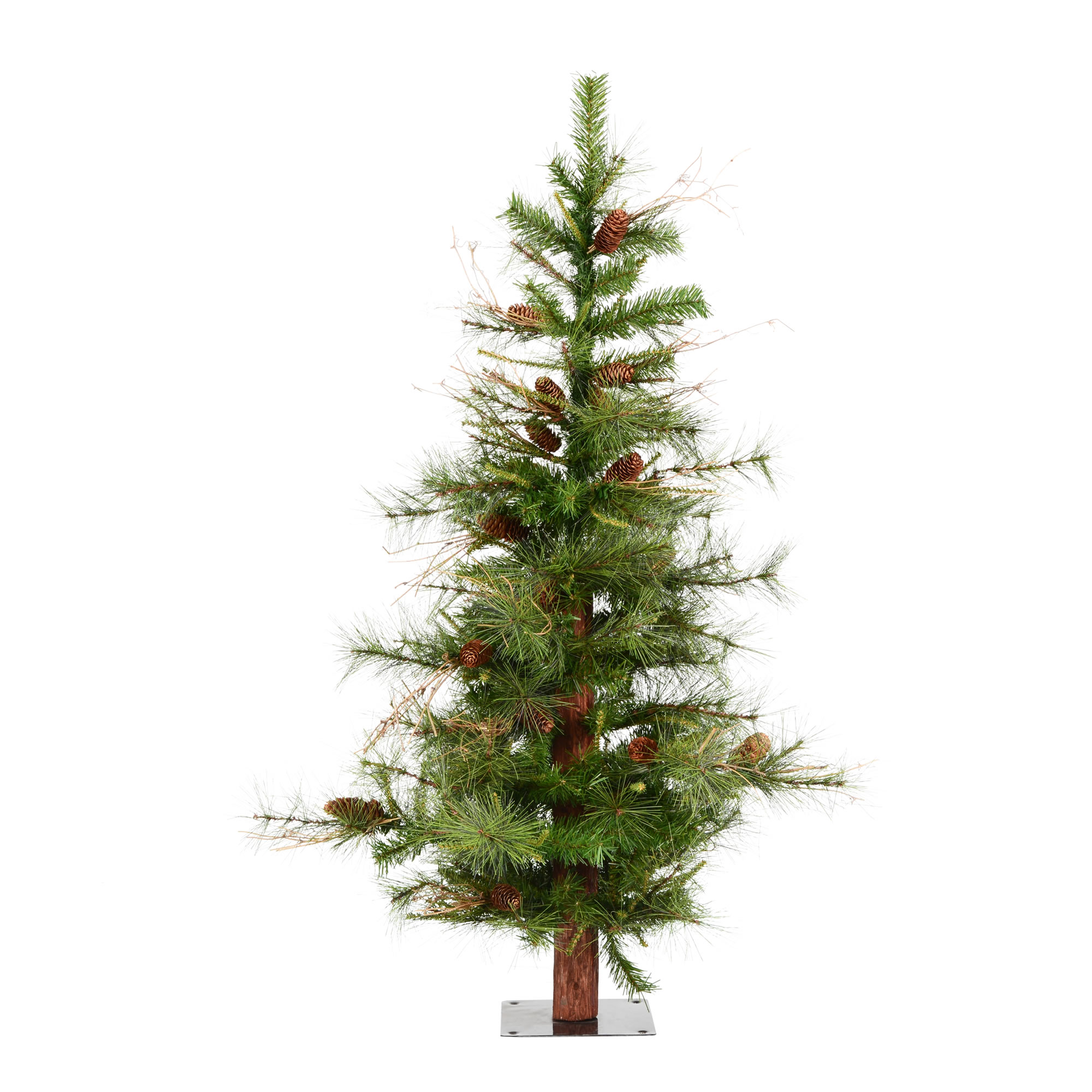 "Artificial Christmas Tree With Pine Cones: Vickerman Artificial Christmas Tree 4' X 30"" Ashland 331"