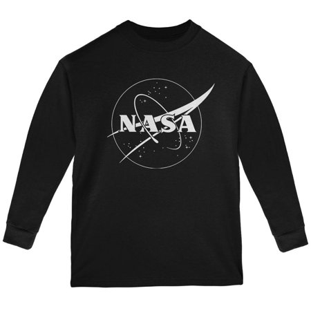 NASA Outline Logo Youth Long Sleeve T Shirt
