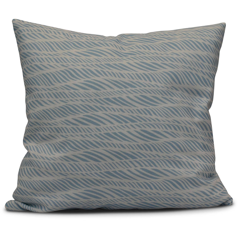 "Simply Daisy 16"" x 16"" Rolling Waves Geometric Print Pillow"