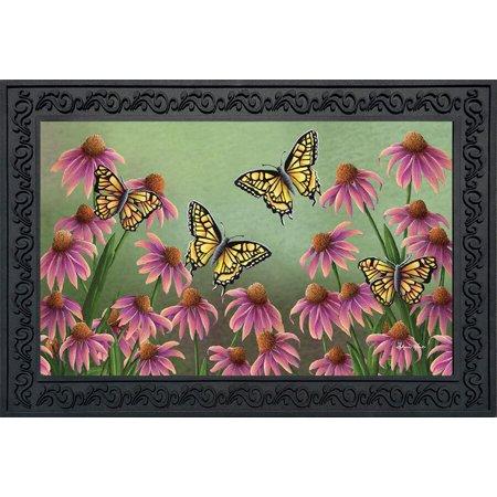 Echinacea Butterfly Spring Doormat Indoor Outdoor Monarch Butterflies 18