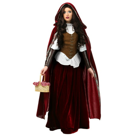 Deluxe Red Riding Hood Plus Size Costume](Gothic Red Riding Hood Costume)