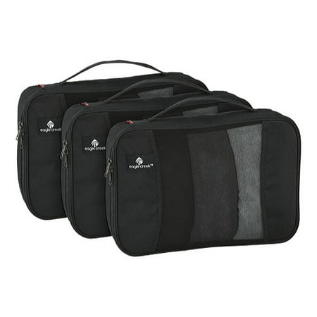Eagle Creek Pack-It Original™ Cube Set M/M/M Smart packing organization, now available in a colorful set of three. Packing in different color Cubes makes it that much easier to identify what you've packed in which clothing organizer. Use Pack-It OriginalCubes to keep your clothes organized inside any travel bag.