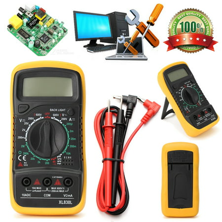 - Electrical Digital Multimeter LCD Voltmeter Volt OHM Tester AC DC Multi Meter