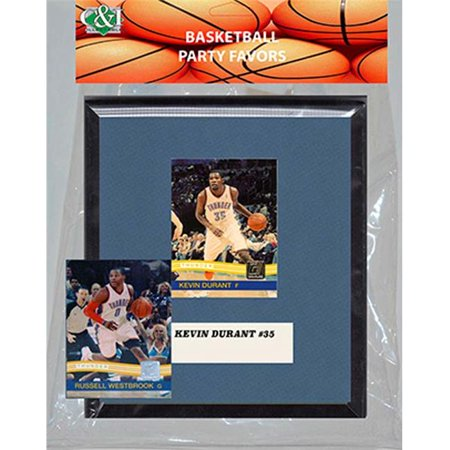 Candlcollectables 67Lbthunder Nba Oklahoma City Thunder Party Favor With 6 X 7 Mat And Frame