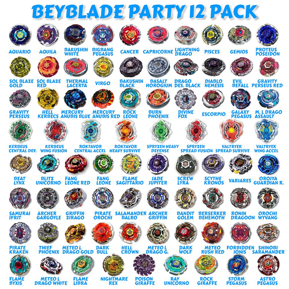 Party 12 Pack Metal Fury, Metal Fusion, Metal Masters ...